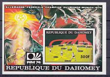 Dahomey - Michel-Nr. Block 49 B postfrisch/**  (Fußball WM 1974, Deutschland)