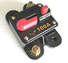 12 Volt Car Audio 100 AMP Circuit Breaker with Reset up to 1000 watts stereo