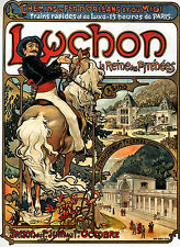 Repro Art Nouveau Print  ' Luchon' by Alphonse Mucha
