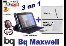 "PACK FUNDA GIRATORIA 360º TABLET BQ MAXWELL 7"" + PROTECTOR + STYLUS UNIVERSAL"