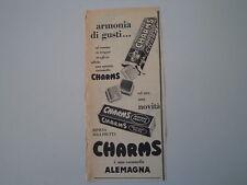 advertising Pubblicità 1959 CARAMELLE ALEMAGNA CHARMS