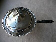 Etched silver plate chafing dish warming stand  4 piece set
