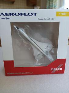 Herpa 562720 Aeroflot Tupolev TU-144 1:400 Die Cast model CCCP-77114