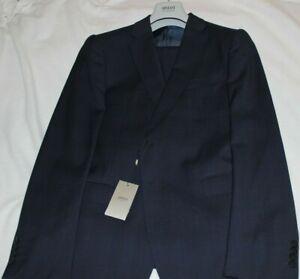 Armani Collezioni M Line Navy Virgin Wool 2 Button Slim Fit Suit Size 40R $1995