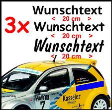3 x Rally Racing Tuning Motorsport DTM Styling  Dein  Wunsch-Namen  Aufkleber