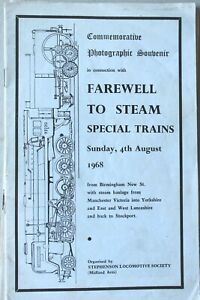 Commemorative Photographic Souvenir in Connection with Farewell to Steam 1968