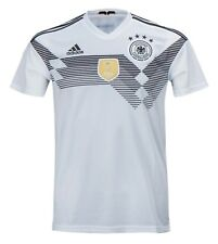 Adidas Men Germany 18/19 Home Replica National Shirts White Soccer Jersey Br7843
