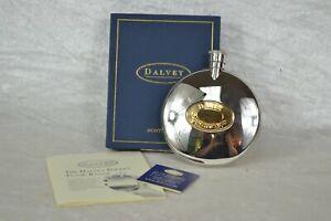 Dalvey of Scotland Small Round Hip Flask in Original Box