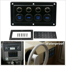 4 Gang RV Car Yacht Cabin Single Touch Switch Panel Control Light Winch 12-24V