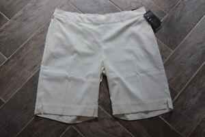 AWESOME Women's White Short Pants NIKE GOLF Dri-Fit XL w/Stretch $75 NWT