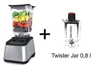 Mixer BLENDTEC Designer 725 Silber Metallic + Twister jar NEU