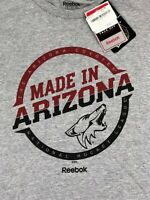 NHL Arizona Coyotes Reebok Made in AZ T-Shirt Short Sleeve Gray NWT Men M, L
