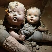 OOAK SCARY BABY DOLL LOT of 3 CREEPY Halloween Prop Evil Haunted HORROR GOTHIC