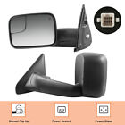 Left & Right Power Heated Tow Mirrors For 02-08 Dodge Ram 1500 03-09 2500 3500