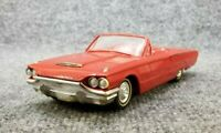 VINTAGE 1964 FORD TBIRD THUNDERBIRD CONVERTIBLE RED FRICTION PROMO CAR
