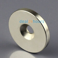 N50 Strong Round Ring Magnet 35 x 5 mm Countersunk Hole 6mm Rare Earth Neodymium