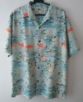 "Vintage Joe Marlin Tropical Hawaiian Shirt 46""-117cm M (1040H)"