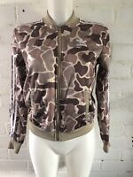 Adidas Originals Women's Tracksuit Top Size 4 Brown Camo