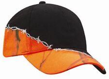 Kati Hunter Safety Blaze Orange Camo Black Barbed Wire Baseball Hat Cap NEW
