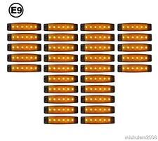 30 x 6 LED 24V Seitenmarkierungsleuchten für Lkw DAF Man Volvo Scania Orange E9