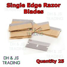 25 x Single Edge Razor Blades - Window Scraper Blade Oven Cleaning Craft Art Cut