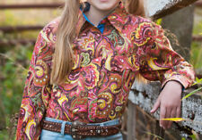 GIRLS BRIGALOW 100% COTTON L/S SHIRT ORARA PAISLEY SIZES 0 - 14