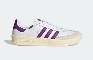 adidas Originals Madrid Vintage Retro Leather Shoes in White and Purple