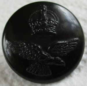 """WW2 RAF:""""ROYAL AIR FORCE BAKELITE BUTTON"""" (Large, 24mm, For K/Drill Tunic, KD)"""