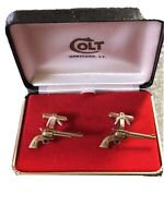 NIB COLT Firearms Factory Single Action Army 45 cuff link Set *MINT Original Box