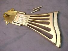 FAN STYLE TAILPIECE FOR ARCHTOP GUITAR - GOLD