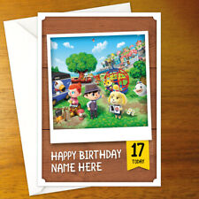 ANIMAL CROSSING Personalised Birthday Card - personalized gamer nintendo