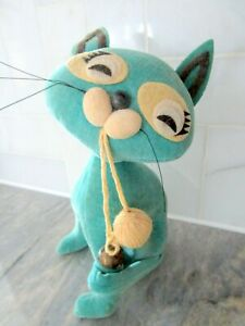 Vintage R. Dakin & CO Japan Dream Pets Cat with String and Bell