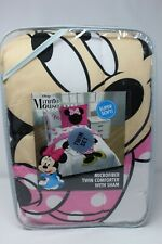 NEW Disney Minnie Mouse Reversible Microfiber TWIN Comforter with Sham NEW