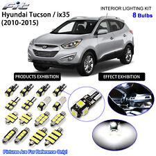 8 Bulbs Xenon White LED Interior Light Kit For 2010-2015 Hyundai Tucson / ix35