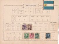 argentina stamps on album pages ref 13223