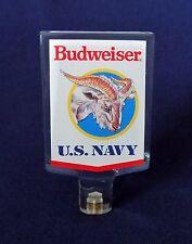 BUDWEISER U.S. NAVY BEER KEG TAP KNOB CLEAR ACRYLIC VINTAGE ADVERTISING USED