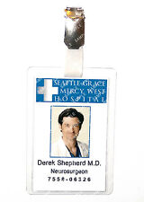 Greys Anatomy Derek Shepherd ID Badge Hospital Cosplay Prop Costume Comic Con