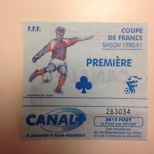 RARE TICKET MATCH COUPE DE FRANCE FC NANTES SAISON 1990-91