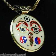 Nepal Amulett Schmuck Buddha Augen Ying Yang Mandala Dorje Indien a87