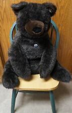 "MAMA GUND 1977 VINTAGE STUFFED JUMBO 29"" DARK CHOCOLATE BROWN TEDDY BEAR!"