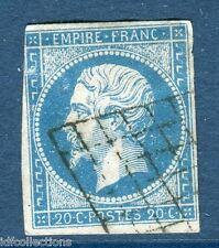 Classique France Napoléon N°14 oblitération cachet grille cote: 80€