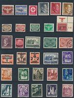 Lot Stamp Germany Poland General Government WWII Hitler Osten Feldpost Warsaw U