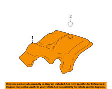 FORD OEM Engine Appearance Cover-Engine Cover 4W1Z9E766AA