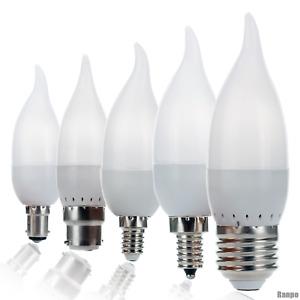 Dimmable LED Candle Light Bulbs 3W Flame Chandelier E14 E27 E26 E12 B22 B15 110V
