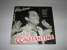 EDDIE CONSTANTINE 33 TOURS 25CMS FRANCE AZNAVOUR