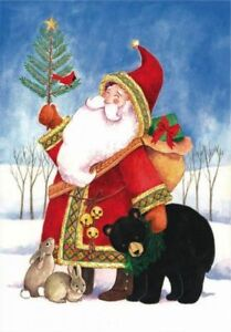 NEEDLEPOINT'S Canvas 14 or 18 count_Christmas_Santa_Winter_Whimsical_bear