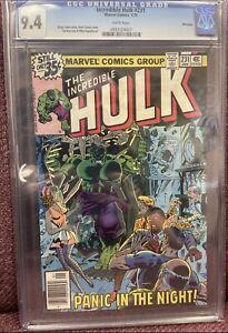 Incredible Hulk #231 (1979) CGC 9.4 WHITE PGS - Tough Dark Cover - Winnipeg
