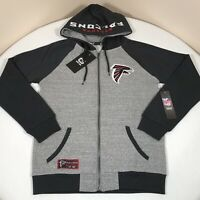 Atlanta Falcons Hoodie Mens Small NFL Gray Zippered Sweatshirt