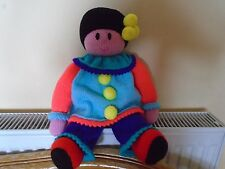 Lovable new hand knitted colourful Pierrot clown doll