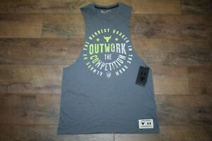 Under Armour Men's Project Rock Outwork Tank 3556 Size Medium (Pitch Gray) NWT